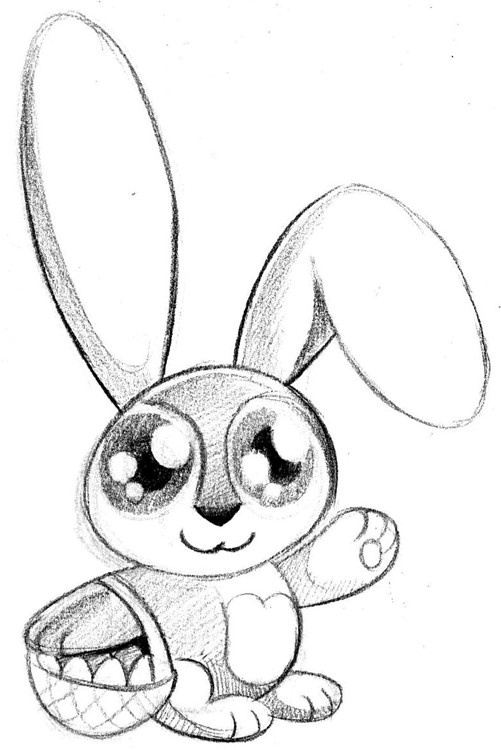 Track Easter Bunny Concept Art Coloring Page