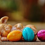Easter Eggs and Bunny Figure