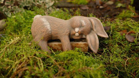 Easter Bunny sleeping
