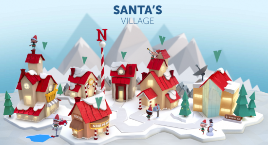 santa claus is back home at the north pole according to norad - Santa And The North Pole